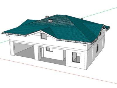 3D модель дома д.Старые Кузьменки