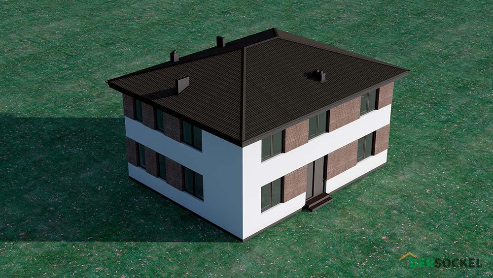 Обзор проекта 642S, стильный и функциональный двухэтажный дом.