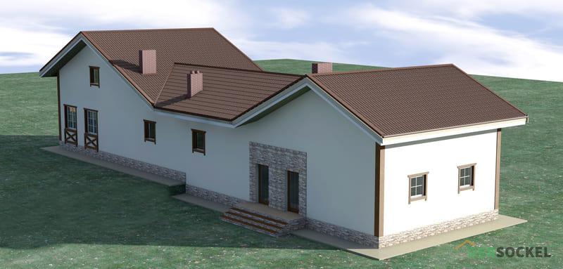 Обзор проекта 535S, нестандартный функциональный дом на узком участке.