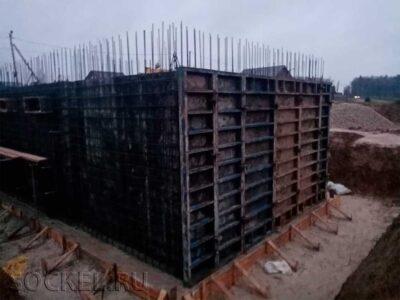 Строительство двухэтажного дома с цокольным этажом, Серпухов, Московская область
