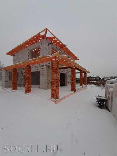 Строительство двухэтажного дома, Кузнецовское, МО