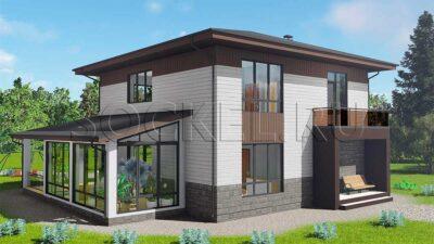 Проект дома BD-007v