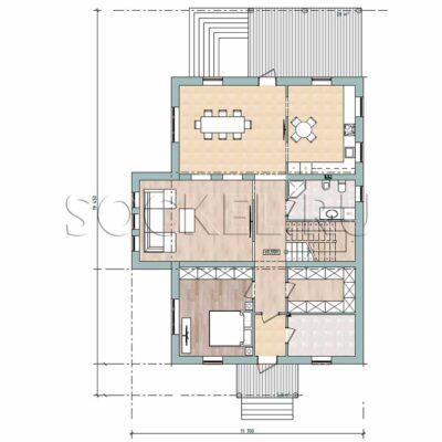 Проект дома BD-008