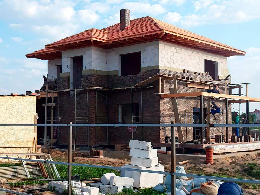 Строительство двухэтажного дома, Истра, Московская область
