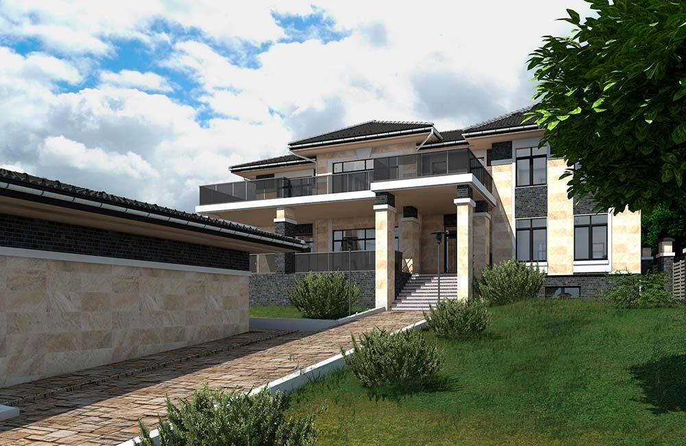 Визуализация дома из проекта