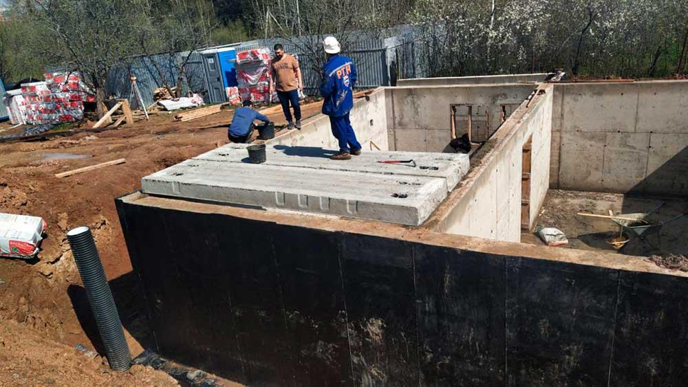 Строительство цокольного этажа Михайлово-Ярцевское