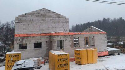 Строительство двухэтажного дома, Яхрома, МО