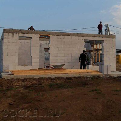 Строительство двухэтажного дома, Голубино, Московская область